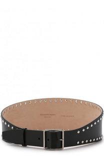 Кожаный ремень с металлическими заклепками Alexander McQueen