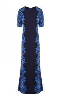Платье-макси с круглым вырезом и принтом St. John