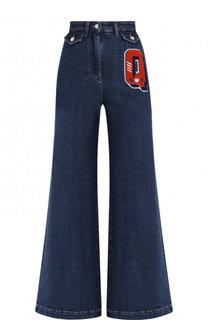 Расклешенные джинсы с декоративной отделкой Dolce & Gabbana