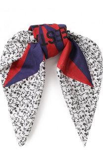 Хлопковый платок с принтом CALVIN KLEIN 205W39NYC
