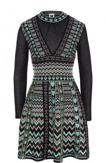 Приталенное мини-платье с принтом M Missoni