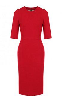 Однотонное приталенное платье из шерсти Dolce & Gabbana