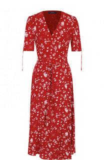 Платье-миди с запахом и принтом Polo Ralph Lauren