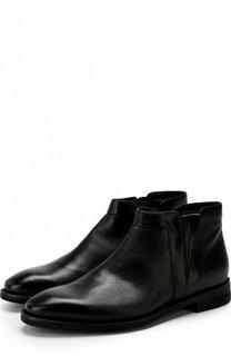 Кожаные ботинки на молнии с внутренней меховой отделкой Barrett