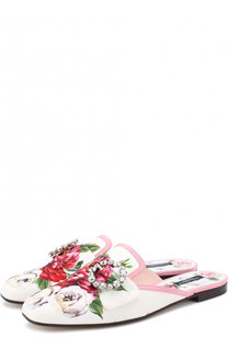 Текстильные сабо Jackie с принтом Dolce & Gabbana
