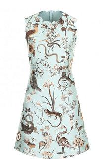 Приталенное мини-платье с декоративной вышивкой REDVALENTINO
