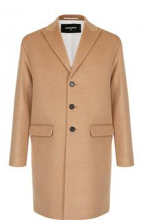 Однобортное шерстяное пальто Dsquared2