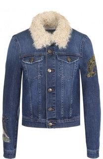 Джинсовая куртка с декоративной отделкой REDVALENTINO