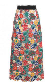 Юбка-миди с эластичным поясом и декоративной отделкой Dolce & Gabbana