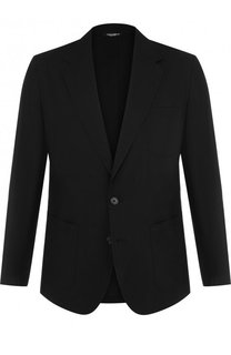 Однобортный хлопковый пиджак Dolce & Gabbana