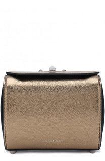 Сумка Box 19 из металлизированной кожи Alexander McQueen