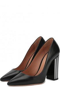 Кожаные туфли на устойчивом каблуке BOSS