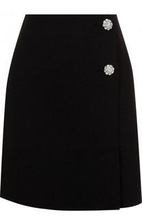 Однотонная мини-юбка с декоративными пуговицами MSGM