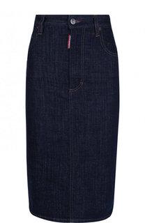 Джинсовая юбка-карандаш Dsquared2