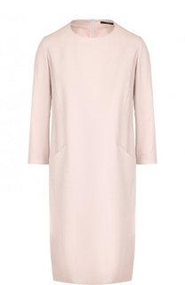 Однотонное платье с круглым вырезом и карманами Windsor