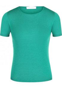 Однотонная футболка из смеси кашемира и шелка Cruciani
