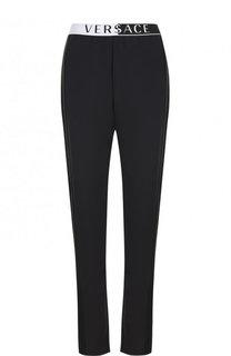 Однотонные брюки с эластичным поясом Versace