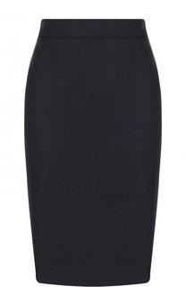 Шерстяная юбка-карандаш BOSS