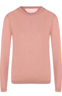 Однотонный пуловер из смеси кашемира и шелка REDVALENTINO