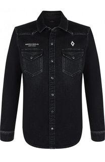 Джинсовая рубашка с принтом Marcelo Burlon