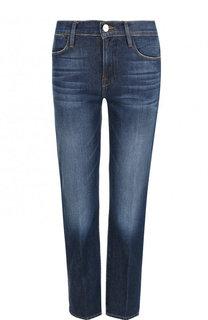 Укороченные джинсы с потертостями Frame Denim