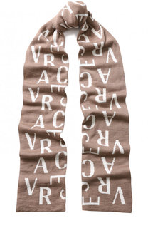 Шерстяной шарф с принтом Versace