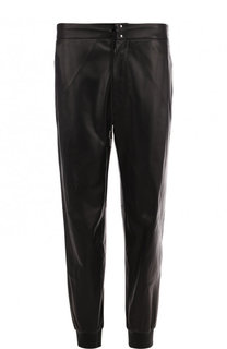 Кожаные брюки с манжетами Alexander McQueen