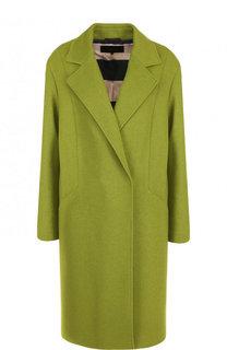 Однотонное шерстяное пальто прямого кроя Windsor