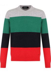 Шерстяной свитер в контрастную полоску Dsquared2