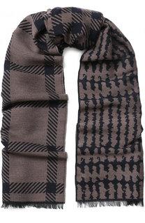 Шерстяной шарф с принтом Giorgio Armani