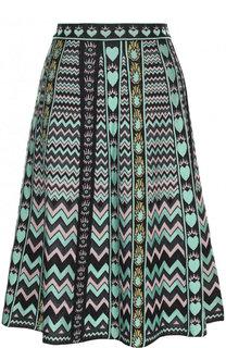 Вязаная юбка-миди с принтом M Missoni
