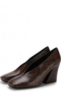 Кожаные туфли на массивном каблуке Dries Van Noten