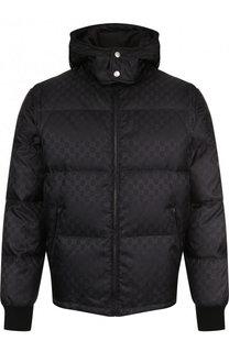 Стеганая куртка на молнии с капюшоном и отстегивающимися рукавами Gucci