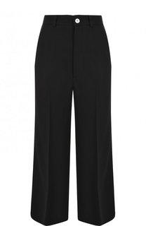Укороченные расклешенные брюки с лампасами Gucci