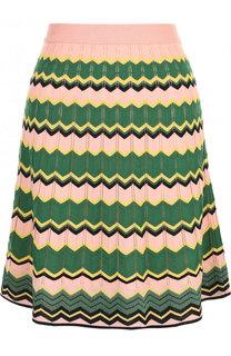 Вязаная мини-юбка с принтом M Missoni