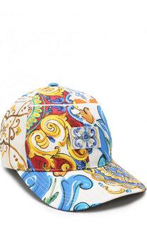Бейсболка с принтом Dolce & Gabbana