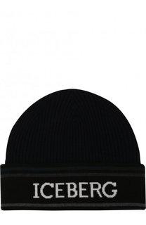 Шерстяная шапка с отворотом Iceberg