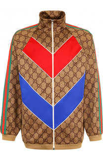 Кардиган свободного кроя на молнии с отделкой Gucci