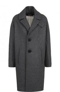Однотонное шерстяное пальто с карманами Dsquared2