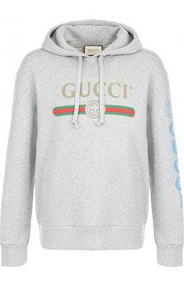Хлопковое худи с принтом Gucci