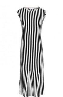 Приталенное платье с круглым вырезом BOSS