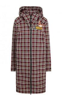 Пальто с капюшоном и декоративной отделкой Gucci