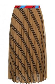 Плиссированная юбка-миди с эластичным поясом и принтом By Malene Birger