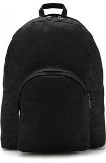 Однотонный рюкзак с внешним карманом на молнии Alexander McQueen