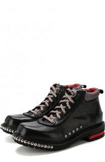 Кожаные ботинки с отделкой Alexander McQueen