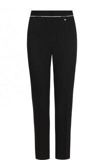 Шерстяные брюки со стрелками и контрастной отделкой Versace
