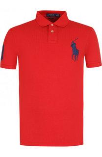 Хлопковое поло с короткими рукавами Polo Ralph Lauren
