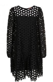 Однотонное мини-платье с декоративной отделкой No. 21
