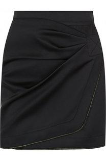 Однотонная мини-юбка с драпировкой No. 21
