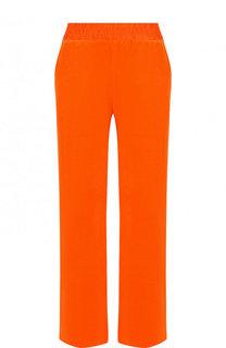 Хлопковые брюки прямого кроя с эластичным поясом Escada Sport